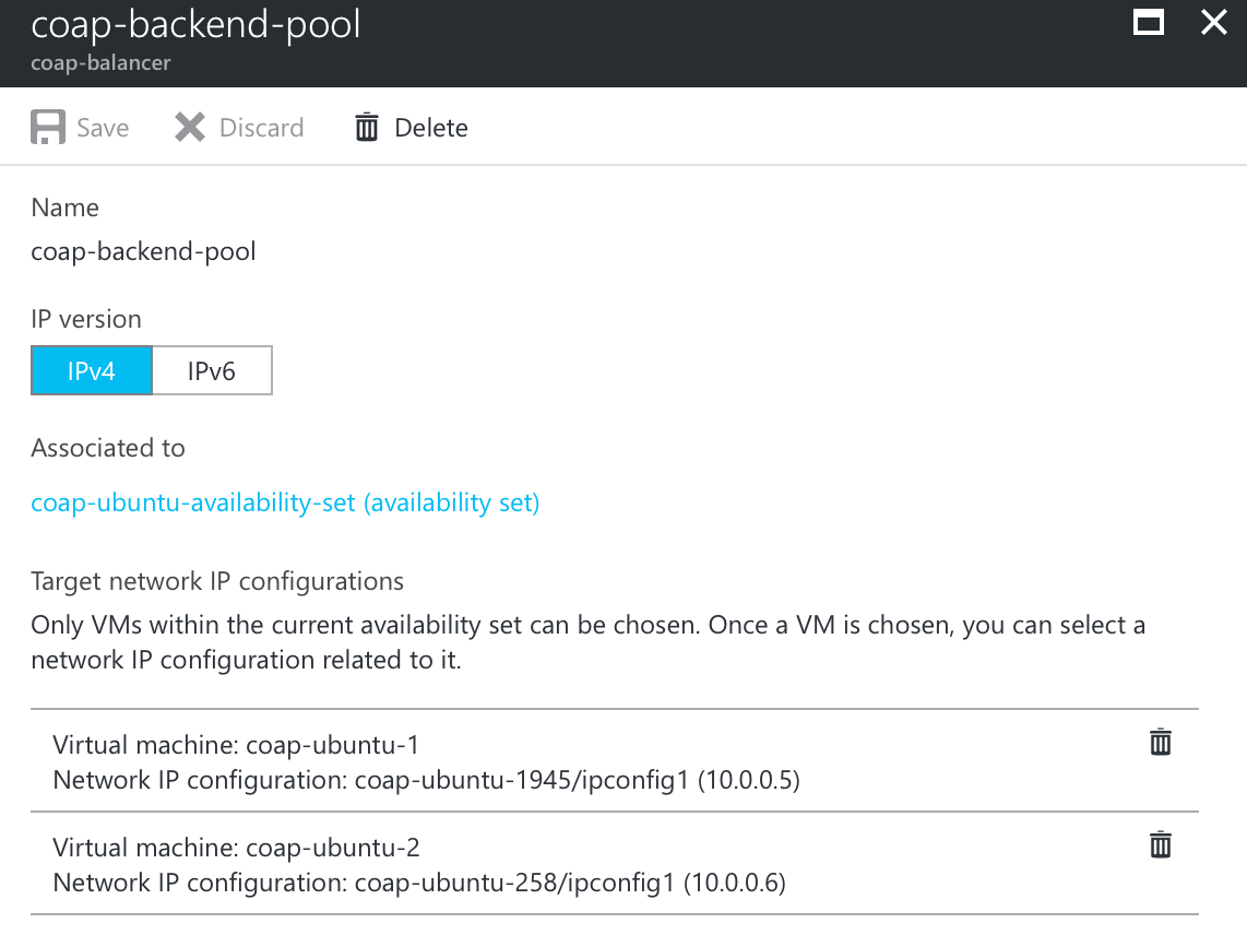 Backend pool